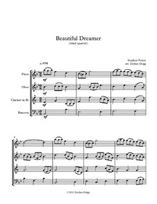 Beautiful Dreamer: For wind quartet by Stephen Foster