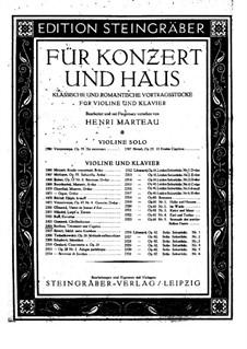 Träumerei und Caprice für Violine und Orchester, H.88 Op.8: Version für Violine und Klavier by Hector Berlioz