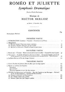 Romeo und Julie, H.79 Op.17: Teil I. Partitur by Hector Berlioz