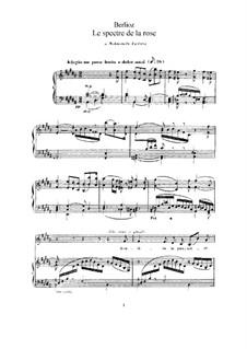 Les nuits d'été (Summer Nights),  H.81 Op.7: No.2 Le spectre de la rose (B Major) by Hector Berlioz