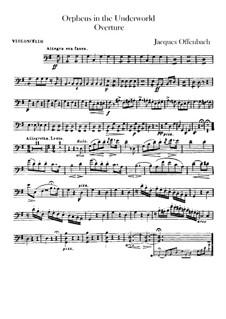 Orpheus in der Unterwelt. Ouvertüre zu Oper von J. Offenbach: Cellostimme by Carl Binder