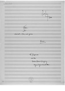Trio für Klarinette, Bratsche und Klavier: Vollpartitur by Ernst Levy