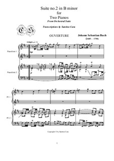 Orchestersuite Nr.2 in h-Moll, BWV 1067: Version for two pianos by Johann Sebastian Bach