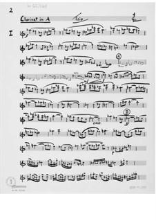 Trio Nr.1 für Klarinette, Cello und Klavier: Stimmen by Ernst Levy