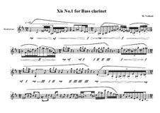 Xis No.1 for Bass clarinet, MVWV 560: Xis No.1 for Bass clarinet by Maurice Verheul
