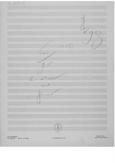 Trio Nr.1 für Klarinette, Cello und Klavier: Skizzen by Ernst Levy