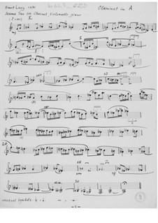 Trio Nr.2 für Klarinette, Cello und Klavier: Stimmen by Ernst Levy