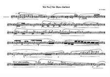 Xis No.2 for Bass clarinet, MVWV 561: Xis No.2 for Bass clarinet by Maurice Verheul