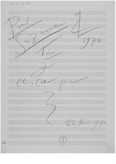 Trio Nr.2 für Klarinette, Cello und Klavier: Skizzen by Ernst Levy