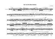Xis No.3 for Bass clarinet, MVWV 562: Xis No.3 for Bass clarinet by Maurice Verheul