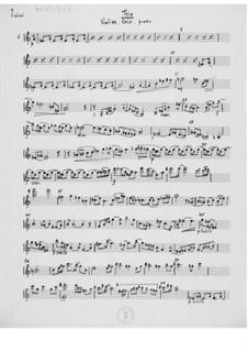 Trio für Violine, Cello und Klavier: Stimmen by Ernst Levy