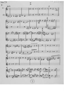 Sonate für zwei Violinen und Klavier: Violinstimme by Ernst Levy