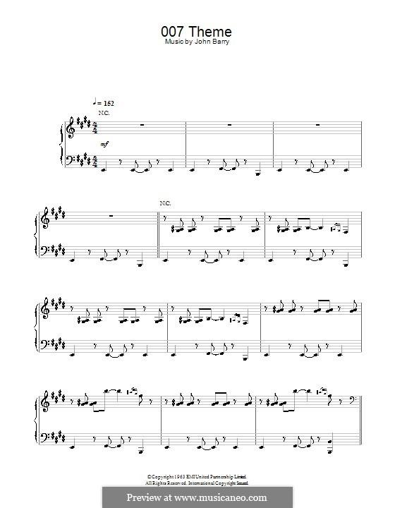 007 Theme: Für Klavier by John Barry
