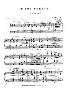 Dans les bois (Im Walde), Op.86: Klavierstück Nr.5 by Stephen Heller