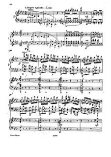 Klavierkonzert in f-Moll, Op.16: Teil III, für zwei Klaviere, vierhändig by Adolf von Henselt
