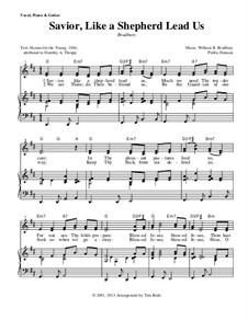 Savior, Like a Shepherd Lead Us: Für Stimme und Klavier (oder Gitarre) by William Batchelder Bradbury