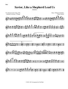 Savior, Like a Shepherd Lead Us: Instrument parts by William Batchelder Bradbury