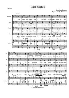 Wild Nights, Op.4: Wild Nights by Jonathan Thomas