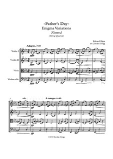 Variation Nr.9 'Nimrod': Für Streichquartett by Edward Elgar