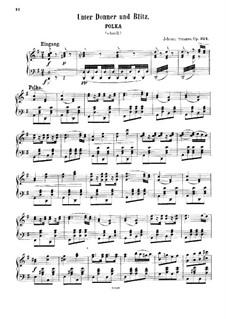 Unter Donner und Blitz, Op.324: Für Klavier by Johann Strauss (Sohn)