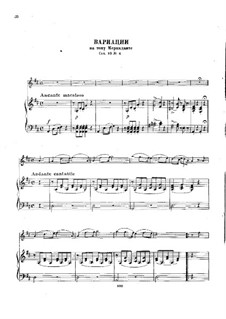 Sechs Arien mit Variationen, Op.89: Nr.6 Arie mit Variationen von Mercadante by Charles Dancla