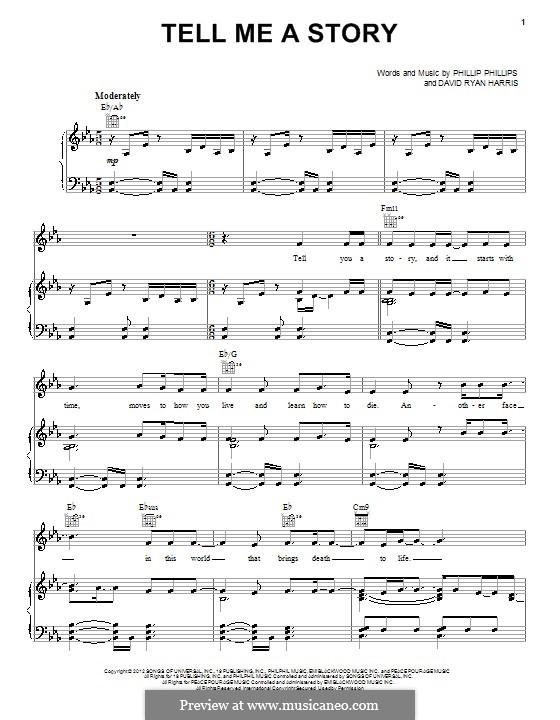 Tell Me a Story: Für Stimme und Klavier (oder Gitarre) by David Ryan Harris, Phillip Phillips