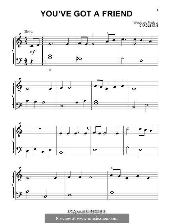 You've Got a Friend: Für Klavier by Carole King