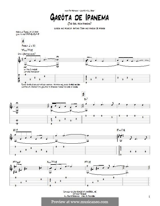 The Girl from Ipanema (Garota de Ipanema): Für Gitarre mit Tab by Antonio Carlos Jobim