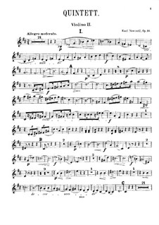 Klavierquintett in D-Dur, Op.16: Violinstimme II by Karel Navratil