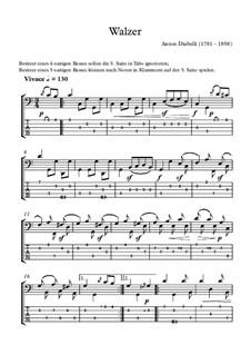 Walzer: Für Bassgitarre by Anton Diabelli