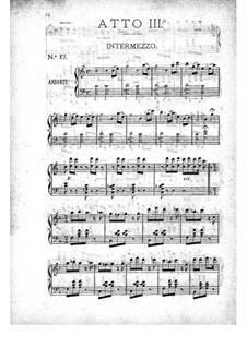 La belle Hélène (Die schöne Helena): Akt III, für Klavier by Jacques Offenbach