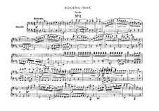 Acht Stücke für Klavier, vierhändig, Op.60: Vollsammlung by Carl Maria von Weber