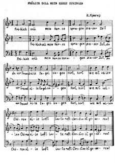 Fröhlich soll mein Herze springen: Für gemischten Chor by Johann Crüger