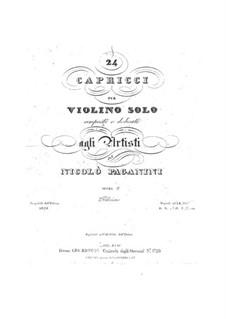 Vierundzwanzig Capricen, Op.1: Vollsammlung by Niccolò Paganini