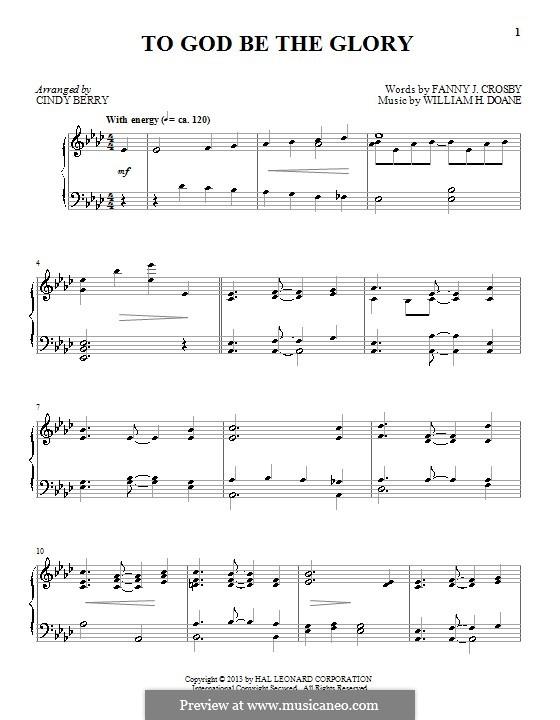 Blessed Assurance: Für Klavier by William Howard Doane