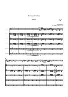 Romanza Andaluza, Op.22: Für Streichorchester by Pablo de Sarasate