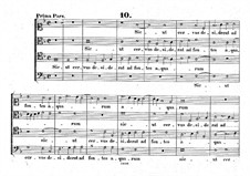 Sicut cervus: Singpartitur by Giovanni da Palestrina