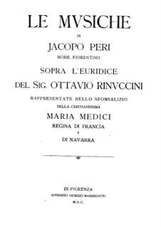 Euridice: Klavierauszug mit Singstimmen by Jacopo Peri