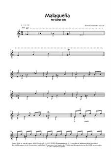 Malagueña, Op.240: Malagueña by Berndt Leopolder