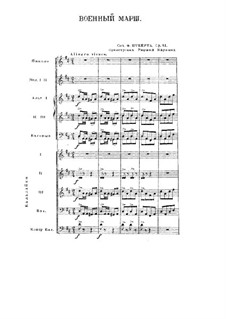 Drei militärische Marsche für Klavier, vierhändig, D.733 Op.51: Marsch Nr.1, für Orchester by Franz Schubert