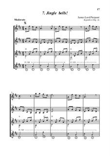 Jingle Bells: For guitar quartet, Op.4-a by James Lord Pierpont