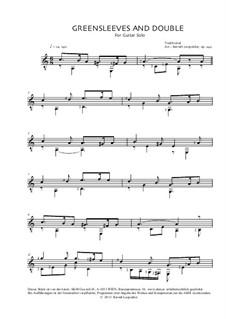Greensleeves: Für Gitarre, Op.242 by folklore