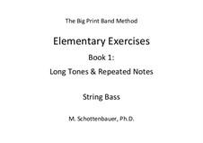 Elementare Übungen. Buch 1: Kontrabass by Michele Schottenbauer