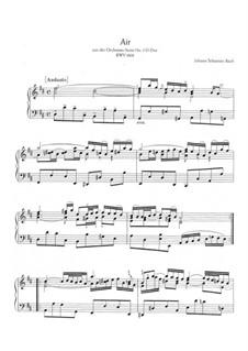 Arie: Version für Klavier by Johann Sebastian Bach