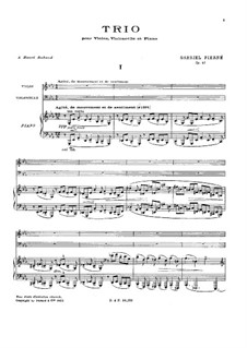 Klaviertrio in c-Moll, Op.45: Teil I by Gabriel Pierné