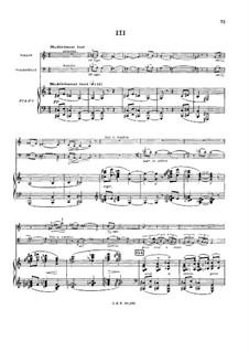 Klaviertrio in c-Moll, Op.45: Teil III by Gabriel Pierné