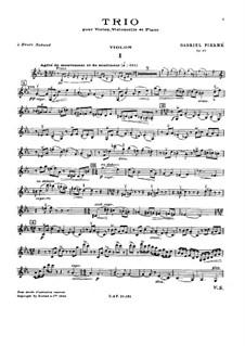 Klaviertrio in c-Moll, Op.45: Violinstimme by Gabriel Pierné