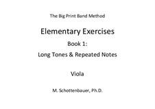 Elementare Übungen. Buch 1: Viola / Bratsche by Michele Schottenbauer