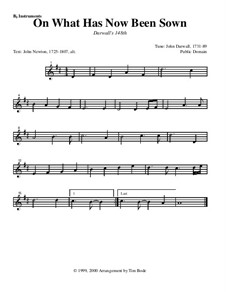 On What Has Now Been Sown: Instrument parts by John Darwall