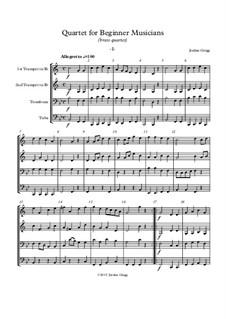 Quartet for Beginner Musicians: Für Blechblasquartett by Jordan Grigg
